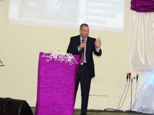 Reuben Egolf speaking at GWC in Nassau Bahamas